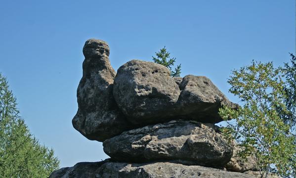 Klettern an der brütenden Henne